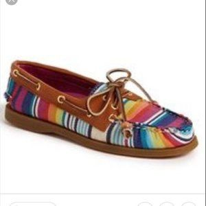 SPERRY / Rainbow Stripe Top Sider / EUC